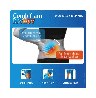 Combiflam Icy Hot Fast Pain Relief Gel 30g 4