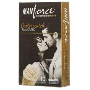 Manforce Extra Dotted Butterscotch Condom 10pcs